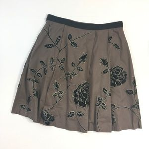 Anthropologie Skirts - Anthropologie Odille Rose Embroidered Skirt